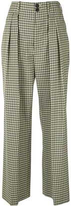 Plan C Checked Tailored Trousers