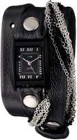 La Mer Women's LMMULTICW1019 Carbon Multichain Wrap Watch