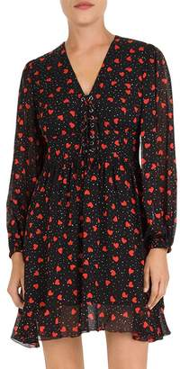 The Kooples So in Love Muslin Lace-Up Dress