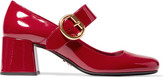 Prada Patent-leather Mary Jane Pumps - Red