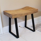 Stef Pine Wood End Table Union Rustic
