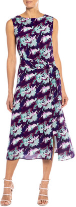 Santorelli Dori Abstract Sleeveless Georgette Dress