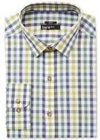 Bar III Men's Slim-Fit Stretch Easy Care Quatro Twill Gingham Dress Shirt, Created for Macy's