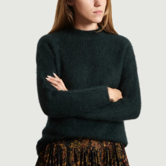 Bellerose Dark Green Angora Datere Sweater - 1 | Dark Green/Angora wool
