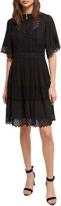 French Connection Drina Eyelet Lace Dress
