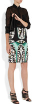 Peter Pilotto Eleni printed stretch-crepe pencil skirt