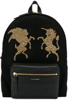 Alexander McQueen embroidered Bullion backpack - men - Cotton/Leather/PVC - One Size