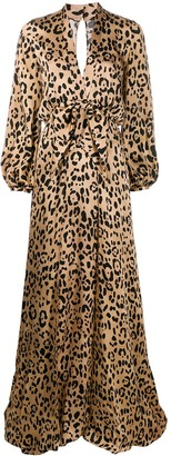 Temperley London Piera leopard-print silk gown