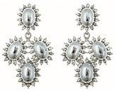 Silver Burst Chandelier Earrings