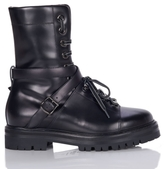 Valentino Leather Combat Boot