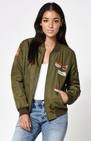 La Hearts Patched Bomber Jacket