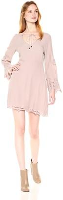 ASTR the Label Women's Fern Eyelet Long Sleeve Dress