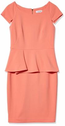 Calvin Klein Women's Sheath Dress with Peplum Detail