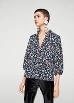 MANGO Ruffle printed blouse
