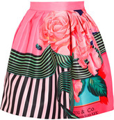 Mary Katrantzou Algernon Floral-print Faille Mini Skirt - Fuchsia