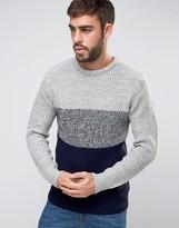 Brave Soul Panel Knit Sweater