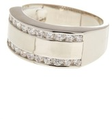 Ariella Collection Metal and Crystal Band Ring
