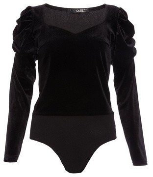 Dorothy Perkins Womens *Quiz Black Sweetheart Bodysuit, Black
