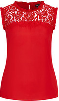 City Chic Lace Angel Top - red
