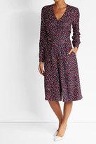 Vanessa Seward Printed Silk Midi Dress