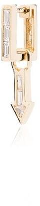 Lizzie Mandler Fine Jewelry 18kt gold Arrow charm earring