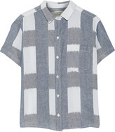 Current/Elliott The Emma checked linen and cotton-blend shirt