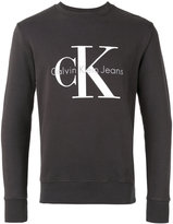 Calvin Klein Jeans logo print sweatshirt - men - Cotton - S