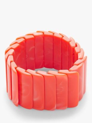 John Lewis & Partners Resin Tile Stretch Bracelet, Orange