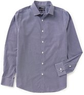 Murano Non-Iron Slim-Fit Long-Sleeve Spread Collar Geo Sportshirt
