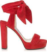 Jimmy Choo KAYTRIN 120 Black Soft Suede Platform Sandals
