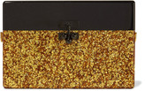 Edie Parker Small Trunk glittered acrylic box clutch