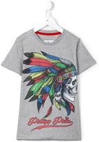 Philipp Plein Feathers T-shirt - kids - Cotton - 8 yrs
