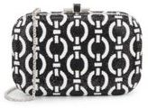 Judith Leiber Slide Lock Crystal Convertible Clutch