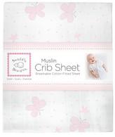 Swaddle Designs Butterflies Crib Sheet - Pastel Pink
