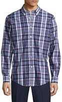 Brooks Brothers Broadcloth Plaid Regent Cotton Sportshirt