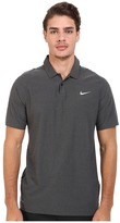 Tiger Woods Golf Apparel by Nike Nike Golf Velocity Woven Solid Polo Men's Short Sleeve Knit