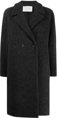 Harris Wharf London Double Breasted Long-Line Coat