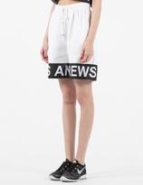 Andrea Crews Black/White Rollin White Band Jogging Shorts