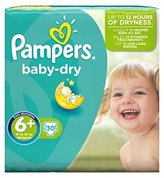 Pampers Baby Dry Size 6+ (Extra Large+) Essential Pack 30 Nappies - Pack of 2