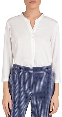 Gerard Darel Jazz Mixed-Material Blouse