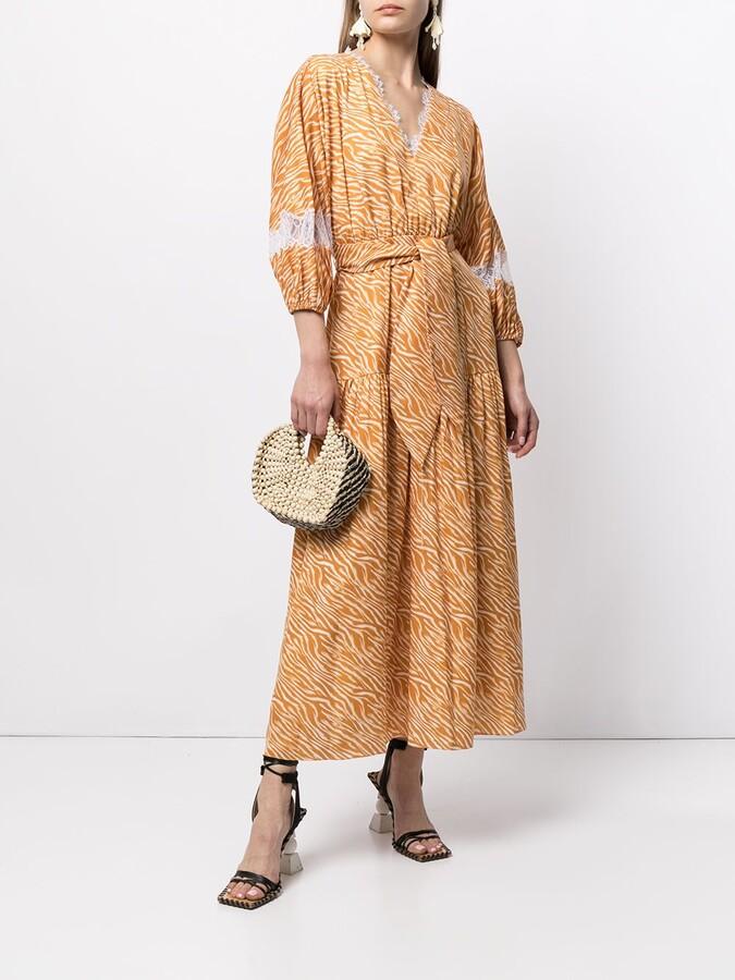 Sachin + Babi Cassida zebra print dress