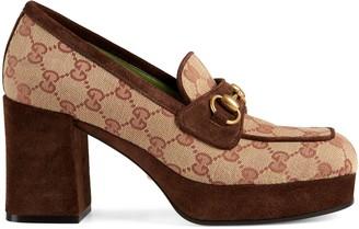 Gucci GG platform mid-heel loafer