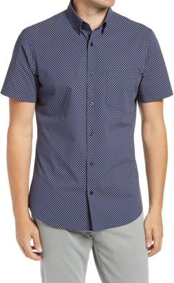 Nordstrom Trim Fit Arrow Print Short Sleeve Button-Up Shirt
