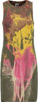 M Missoni Metallic stretch jacquard-knit dress