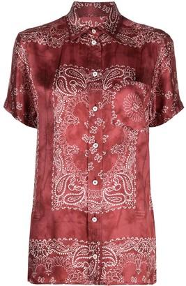 Golden Goose Bandana-Print Short-Sleeve Shirt