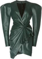 Alexandre Vauthier Ruched Leather Mini Dress