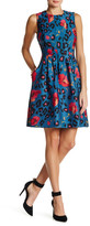 Anne Klein Printed Seamed Fit & Flare Dress