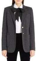 Dolce & Gabbana Women's Punto Milano Wool Blazer
