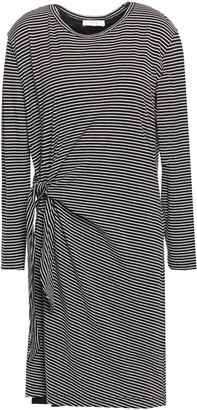 Vince Knotted Striped Cotton-jersey Dress