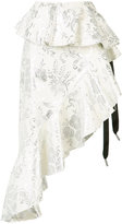 Marques Almeida Marques'almeida - jacquard asymmetric skirt - women - Cotton/Polyester/Acetate/Metallized Polyester - 8